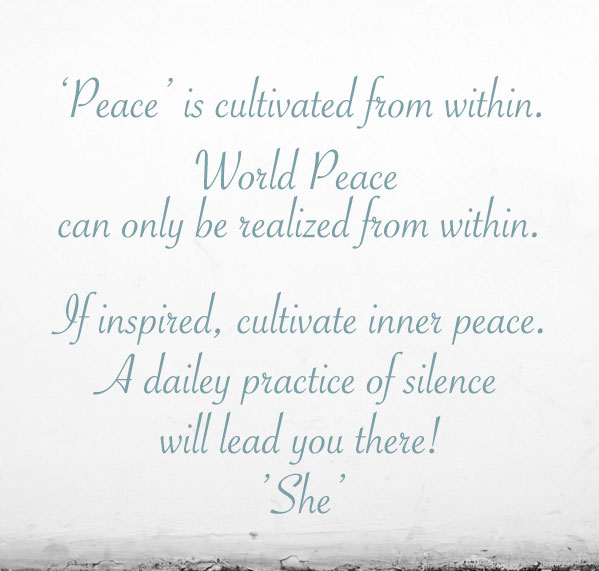 BeSimply...Peace {Sound&Silence}