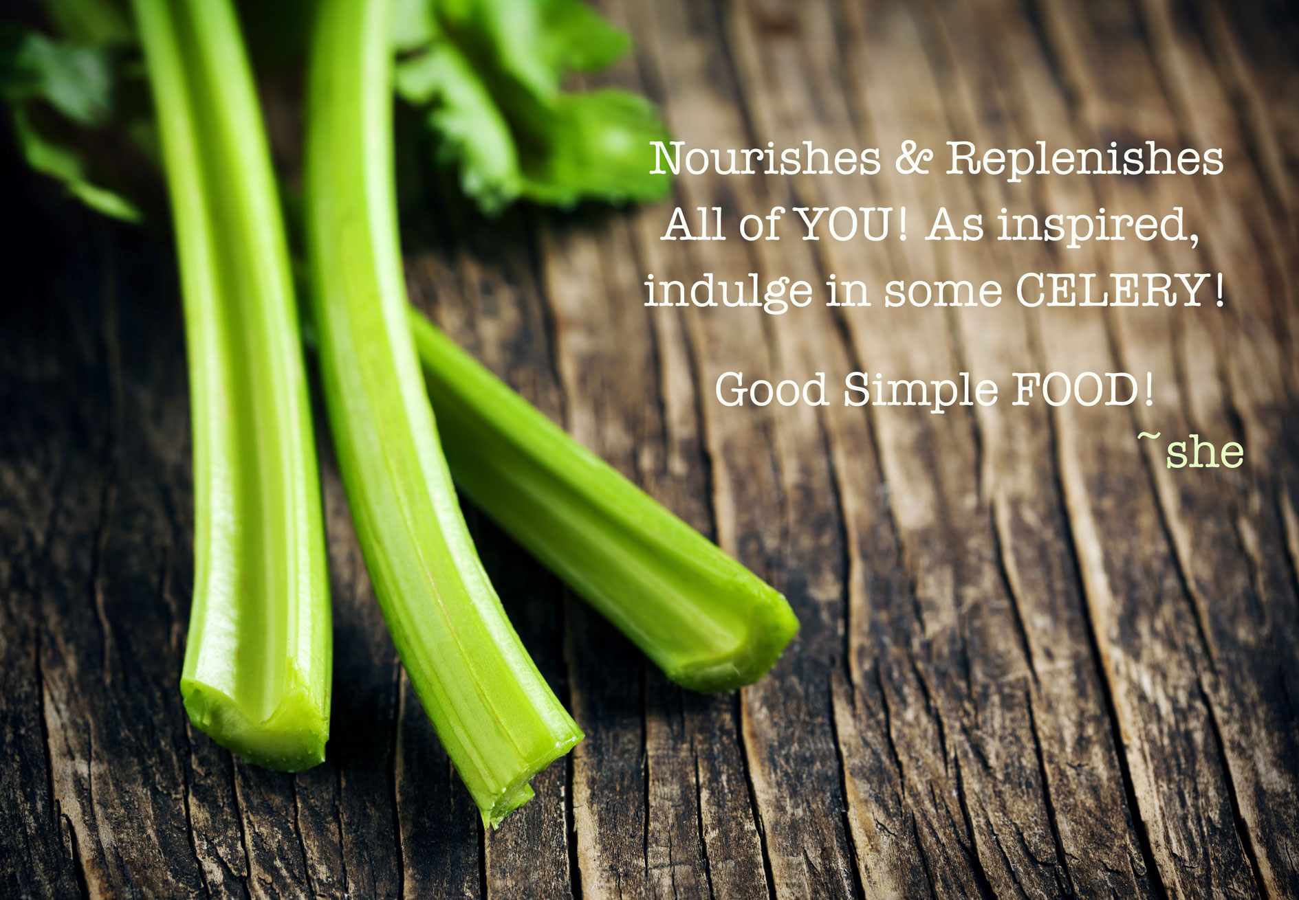 BeSimply...Celery {Food Alchemy}